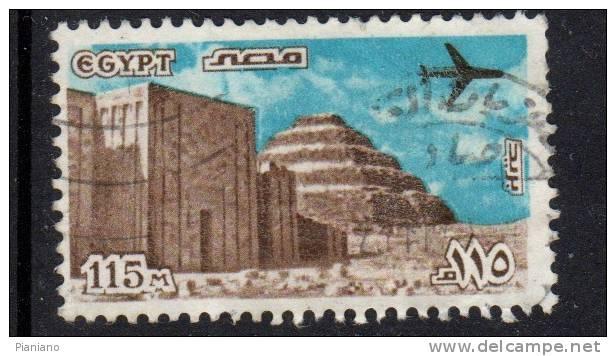 PIA - EGITTO - 1978 : Piramide Di Saqqarah Ed Entrata Nel Santuario - (Yv P.A. 161) - Posta Aerea