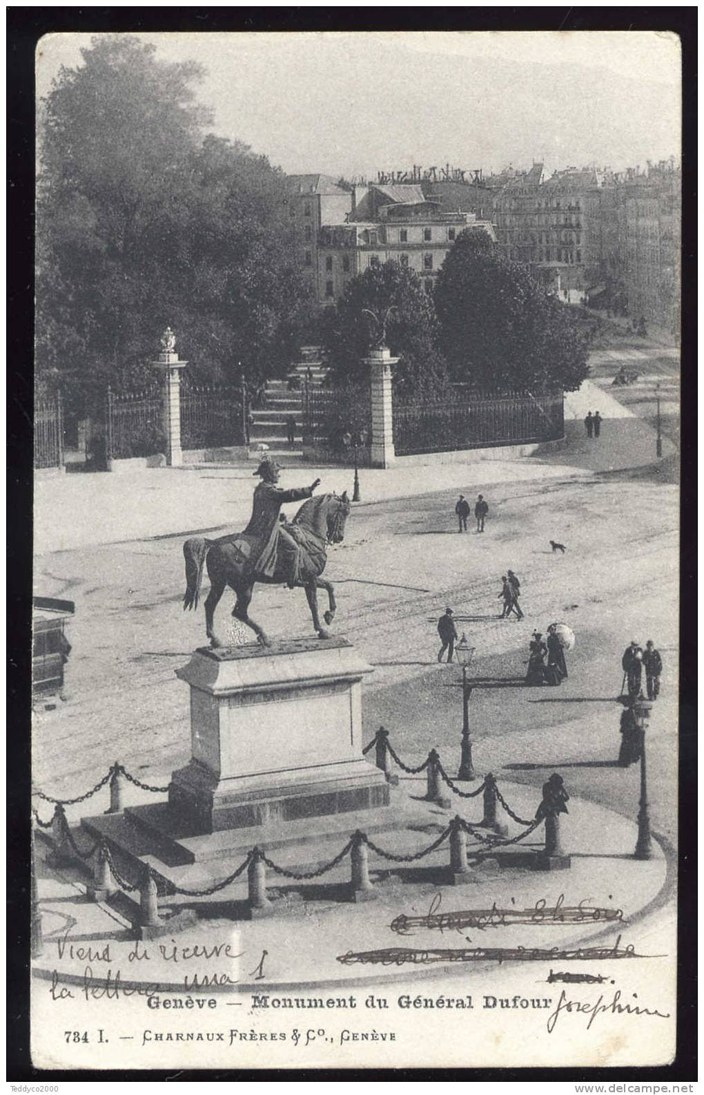 Genève. Monument Du Général Dufur - GE Genève