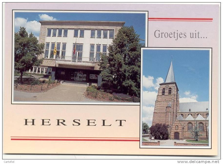 HERSELT-GROETJES UIT-KERK VAN ST. SERVAES-GEMEENTEHUIS - Herselt