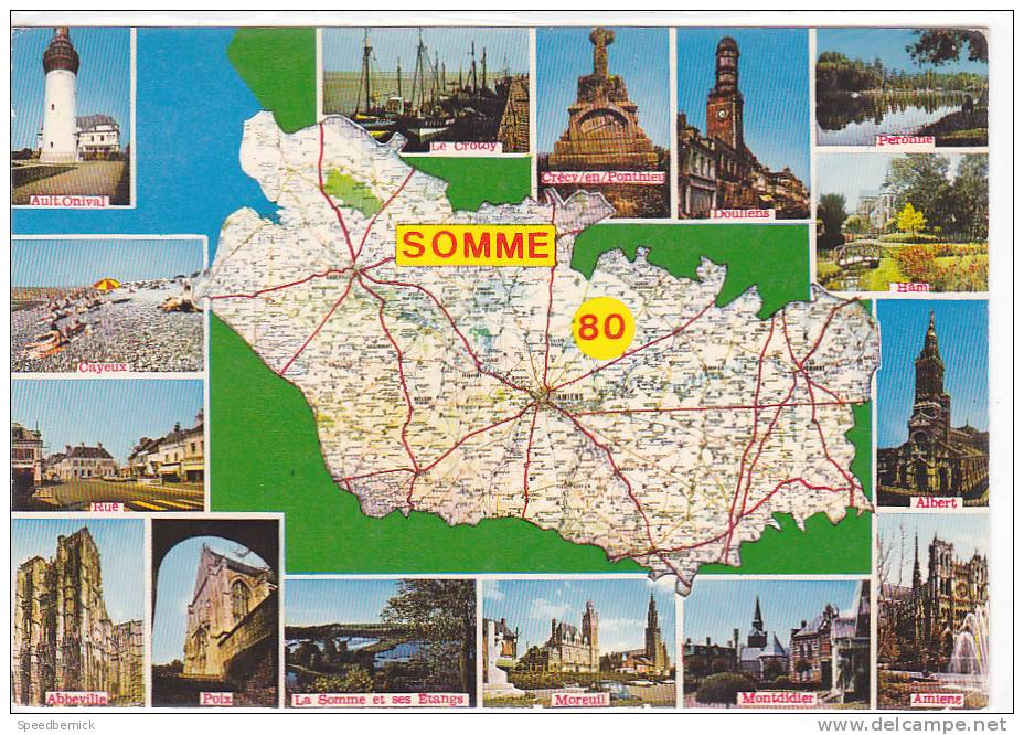 17800 Departement Somme . Carte . France Par Département 280 Mage - Non Classés