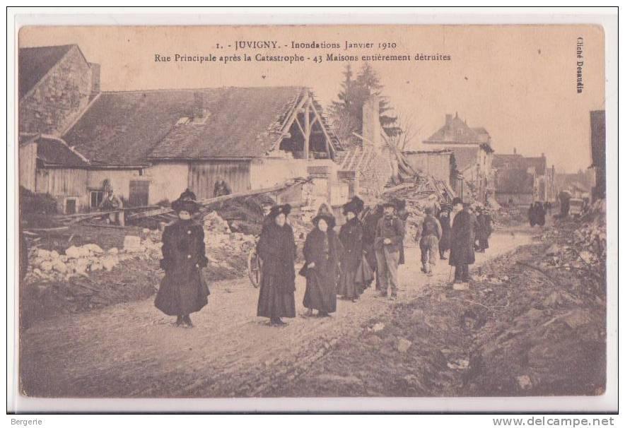 02    Juvigny      Innondations Janvier 1910   Rue Principale Aprés La Catastrophe - France