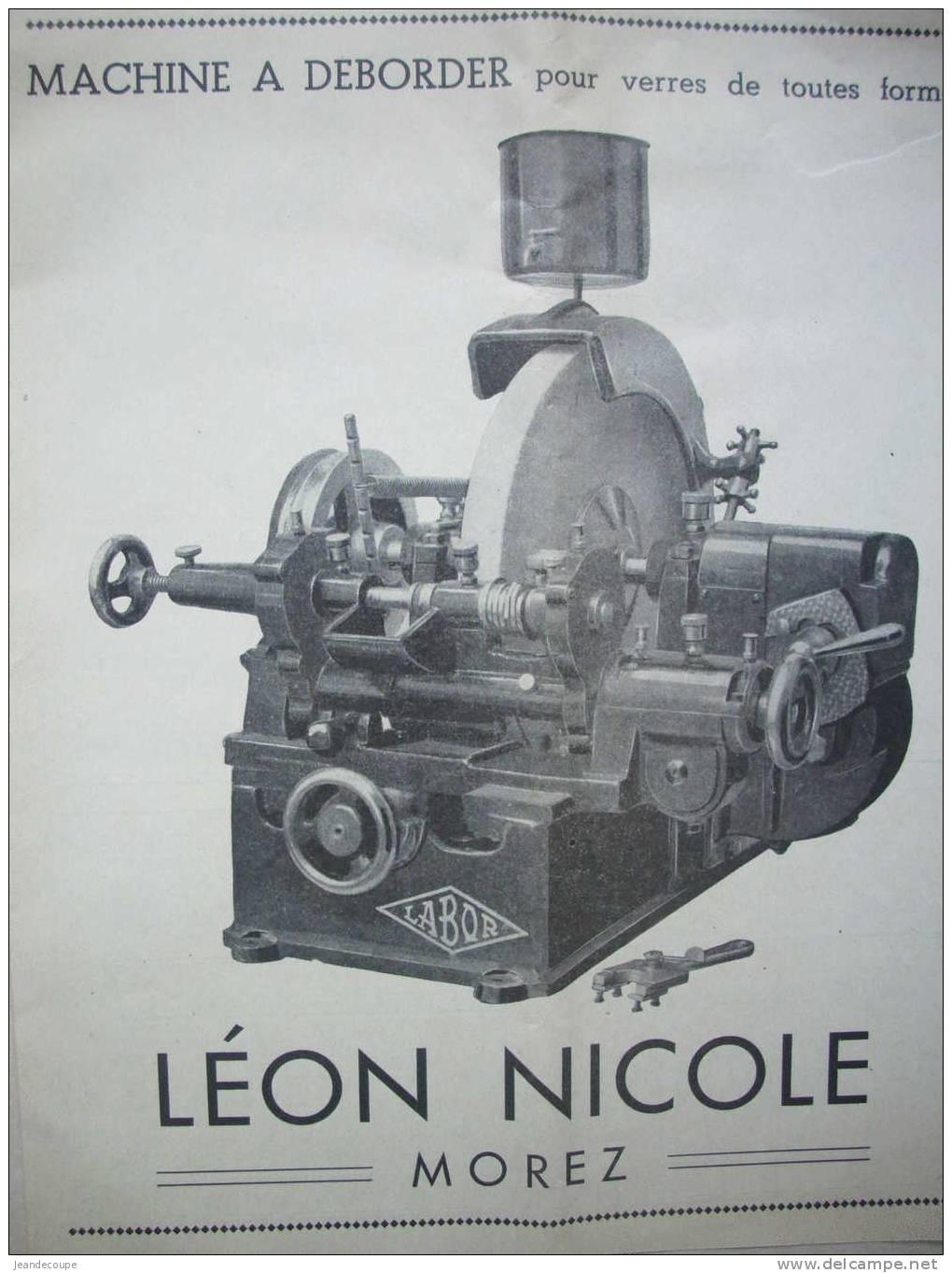 Pub - Optique - Lunetterie - Labor- LEON NICOLE - MOREZ En JURA - 1937 - N.sommer à Enghien Les Bains - Focomètre - Reclame