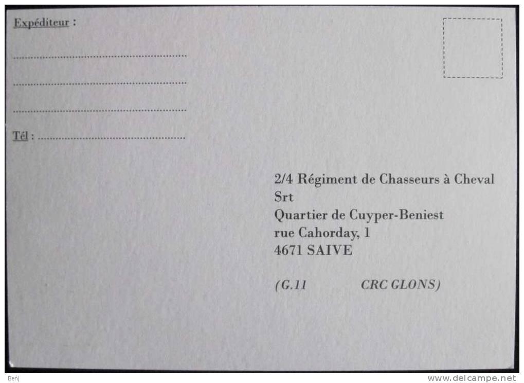 Invitation Cérémonie D´investiture Chef De Corps - 2/4 REGIMENT DE CHASSEURS A CHEVAL (Saive, Armée Belge) (S) - Documenten