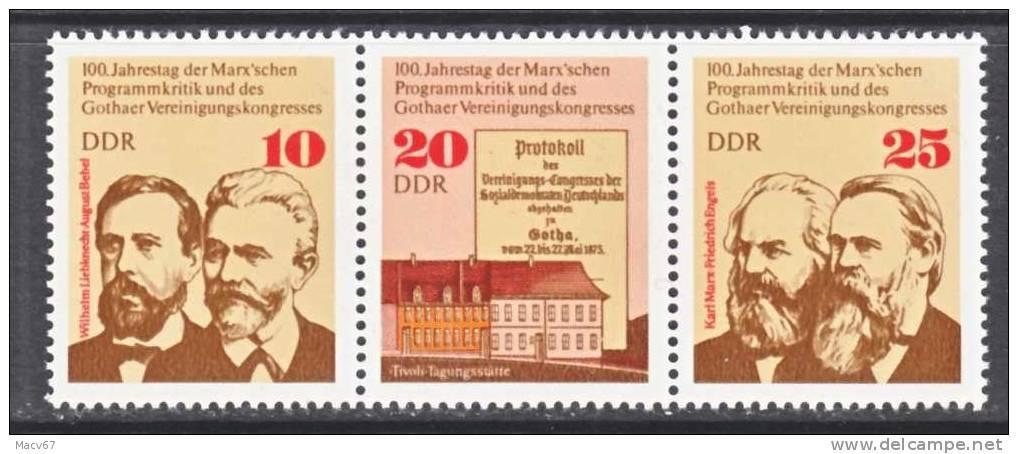 DDR 1652a  **  CONGRESS OF GOTHA - [6] Democratic Republic