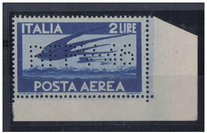 S160 - REGNO Posta Aerea Il 2 Lire Perfin RTFV46   *** - 1900-44 Vittorio Emanuele III