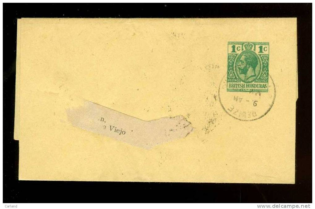 Entier Postal ( 1127 )  Postwaardestuk  British Honduras Wrapper From Newspaper - Honduras