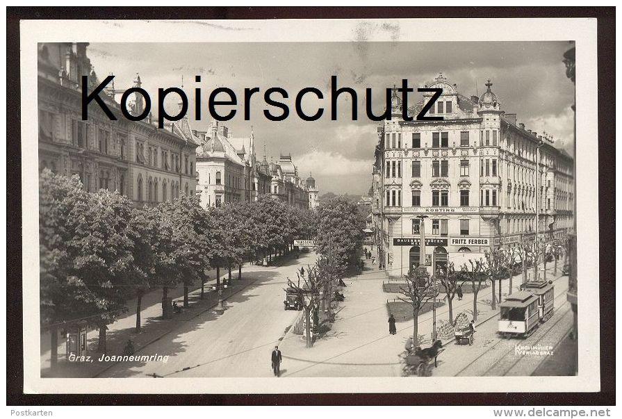 ALTE POSTKARTE GRAZ JOANNEUMRING 1933 DAUERBRANDÖFEN KÖRTING FRITZ FERBER Srassenbahn Tram Tramway Steiermark Austria AK - Graz