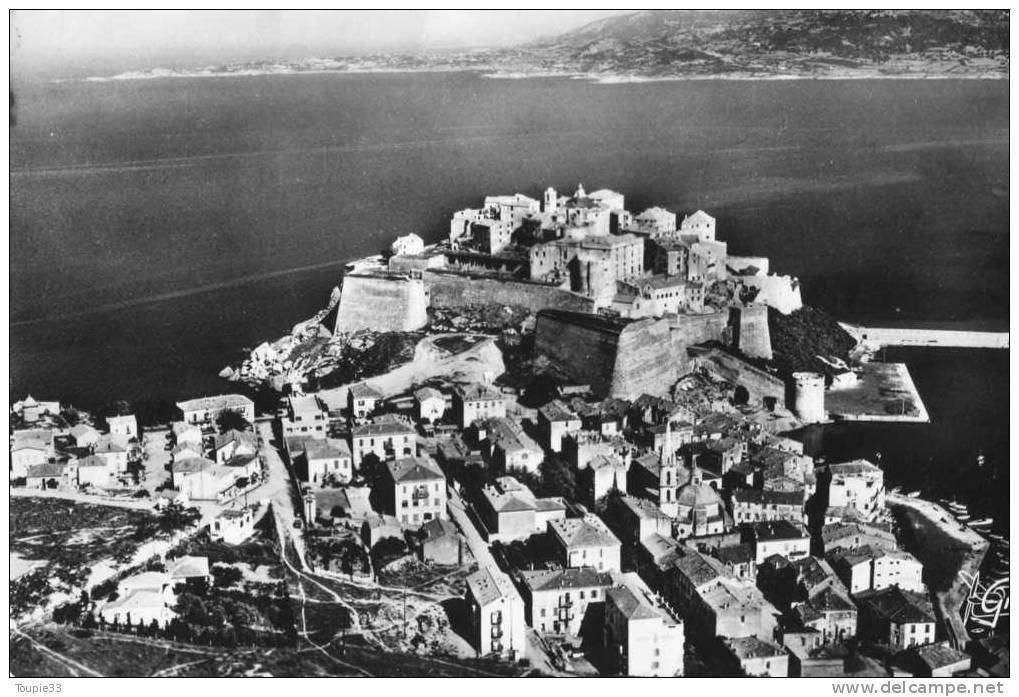 Calvi Vue Aérienne Port Cathérale Et Citadelle - Calvi