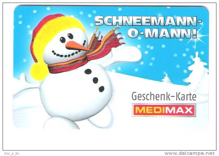 Germany - MediMax Electronic Store - Carte Cadeau - Carta Regalo - Gift Card - Snowman - Schneemann - Gift Cards