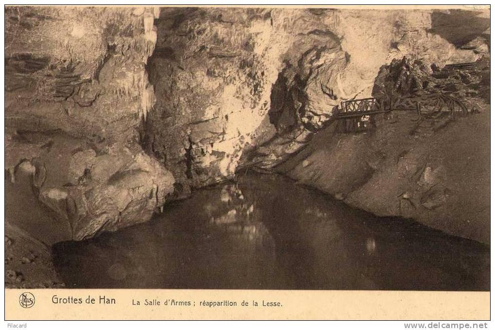 """14492   Belgio,  Les  Grottes  De  Han,  La  Salle  D""""Armes;  Reapparition  De  La Lesse,  NV - Rochefort"""