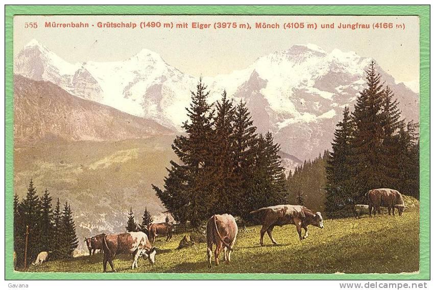 Suisse - Mürrenbahn Mit Eiger, Monch Und Jungfrau - BE Berne
