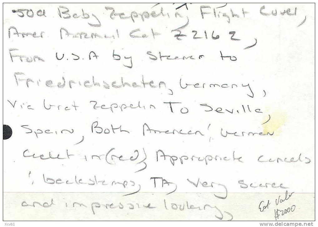 United States Air Mail Zeppelin Flown Cover, Block Of 4    (usc018-2 - Verenigde Staten