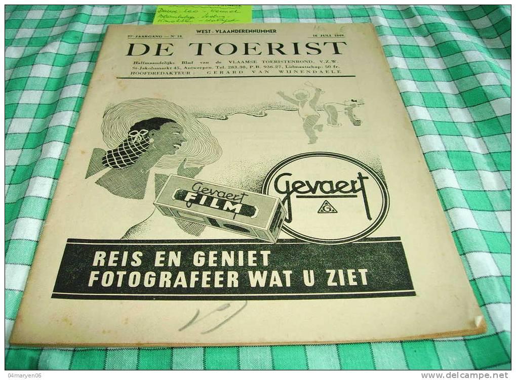 """-**ASSCHE  .** DE  TOERIST -16-7-1948 NR. 14 - """""""" WEST-VLAANDERENNUMMER """""""". - Asse"""