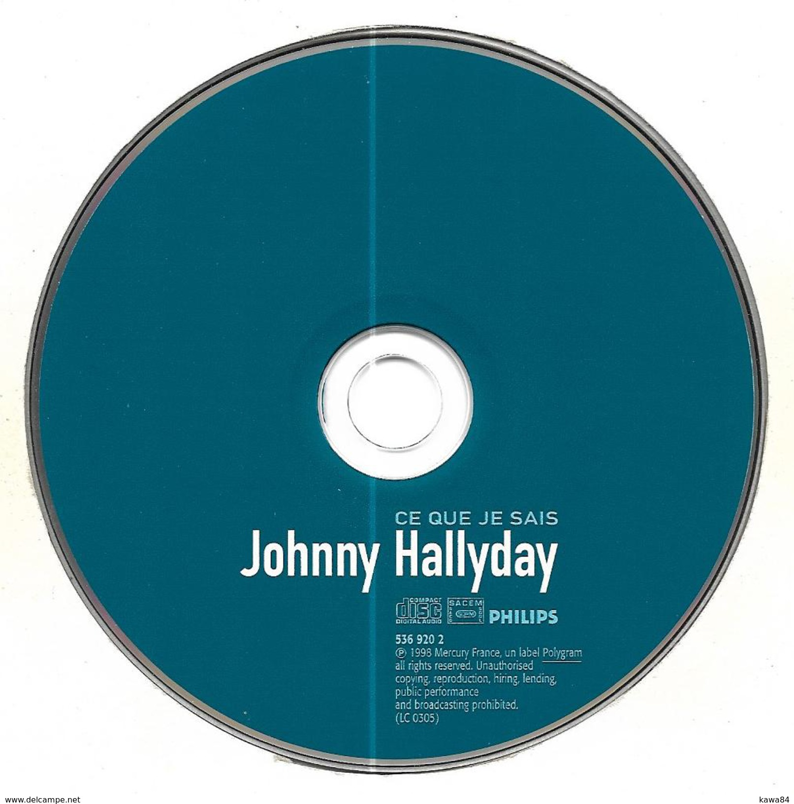 """CD Johnny Hallyday """" Ce Que Je Sais """" - Musik & Instrumente"""