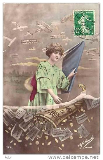 Pieces De Monnaie Et Billets De Banque - Pour La France  -  (21463) - Monnaies (représentations)