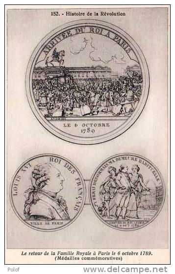Histoire De La Revolution.- Medailles Commemoratives .   (21470) - Monnaies (représentations)