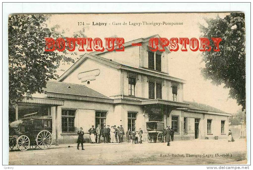 OF < 77 - GARE De LAGNY  THORIGNY POMPONNE - Train - Railway Of Station - Ferrocarril - Stations Without Trains