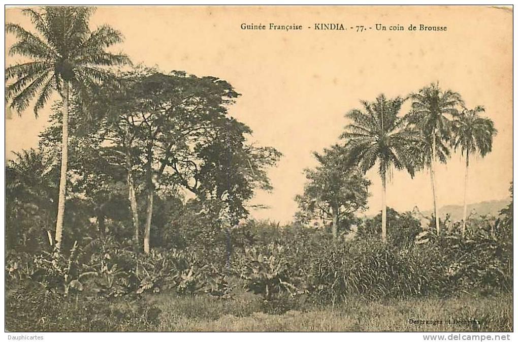 Guinée : KINDIA, Un Coin De Brousse. 2 Scans. Edition Desgranges - Guinea Francese