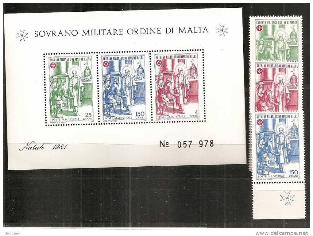 Malta1981: SMOM197-9,MS15 Mnh** - Malte (Ordre De)