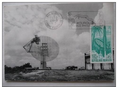 Kourou  Ville Spatiale 1970   Guyane      Timbre - Oblitération De Collection - Guyane