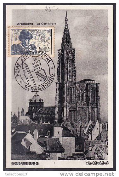 FRANCE - 743 Obli Sur Carte 1er Jour - FDC