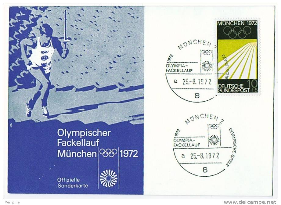 1972  Munich Olympics  Olympic Flame  Commemorative Cover - Summer 1972: Munich