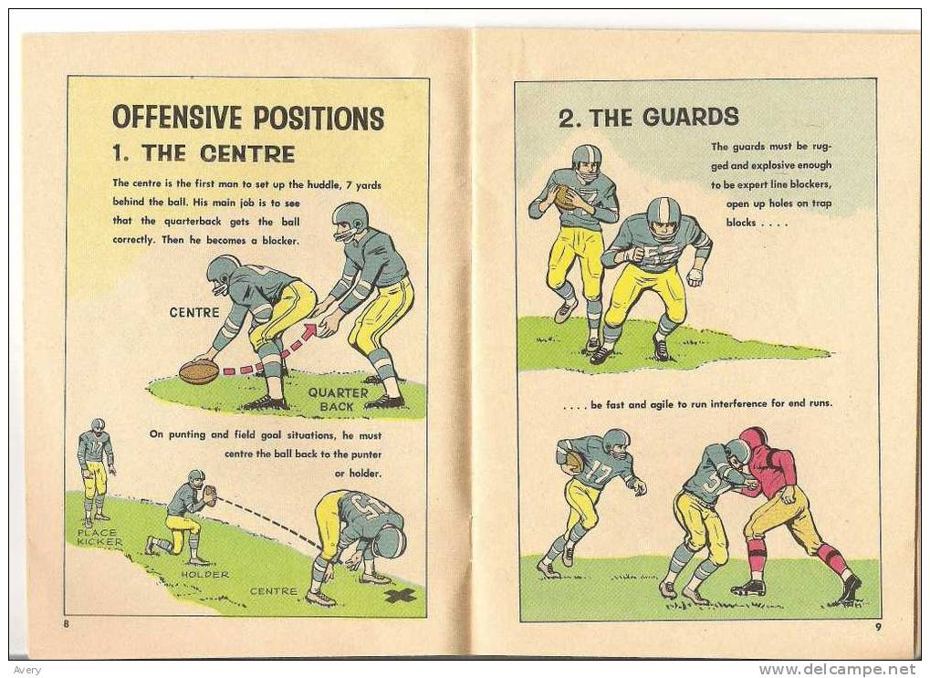 """B/A Football Guide By """"Bud"""" Grant Coach Of The 1962 Grey Cup Champion Winnipeg Blue Bombers 31 Pages - Sports"""
