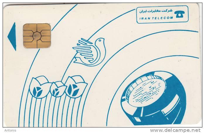 IRAN - Blue Handset, IRAN Telecom Telecard, Used - Irán