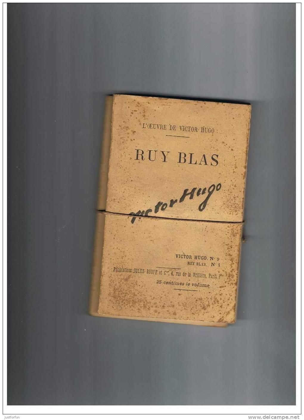 VICTOR HUGO ( RUY BLAS  éditeurs Jules Rouff)  Nr 9,10 - Livres, BD, Revues