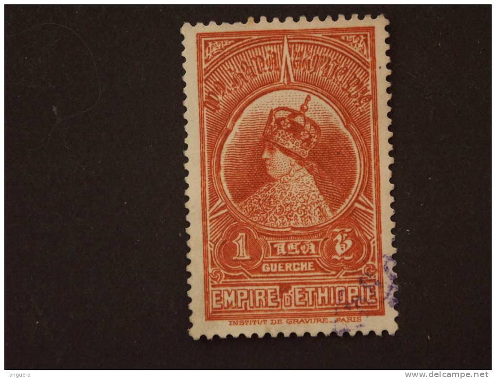 Ethiopie Ethiopia 1931 Série Courante Yv 202 O - Ethiopie