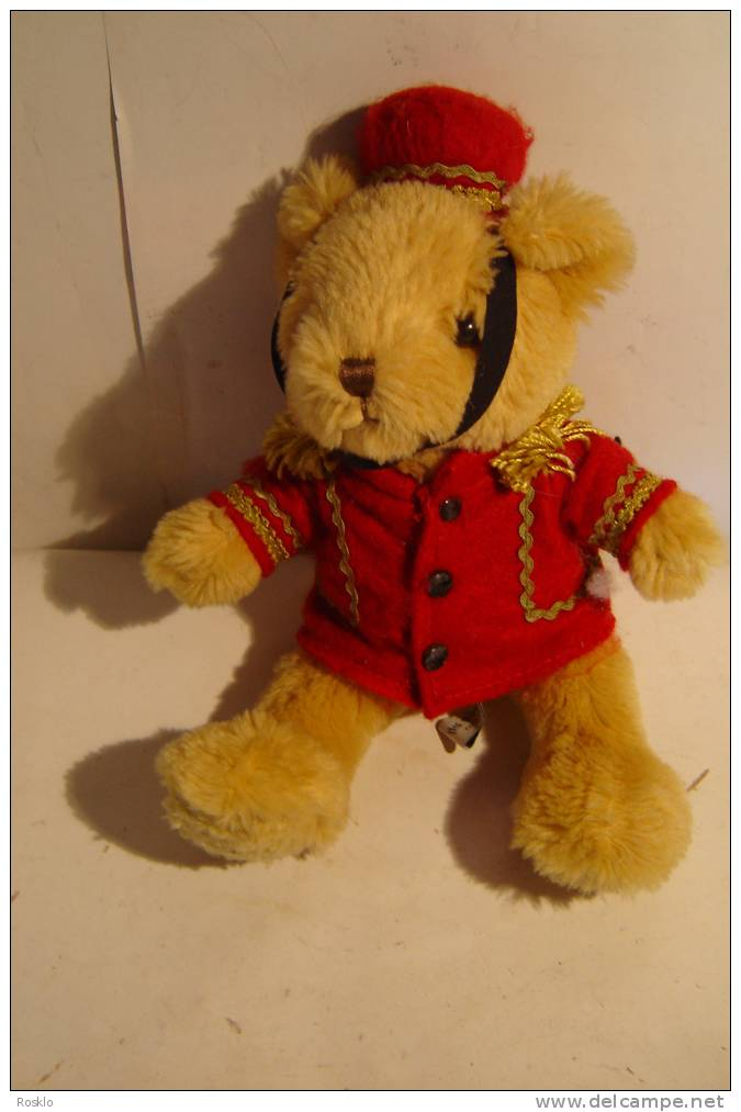 OURS  EN PELUCHE / PETIT OURS HABILLE EN GROUM / MARQUE THE TEDDY BEAR COLLECTION     HT 25CM - Ours