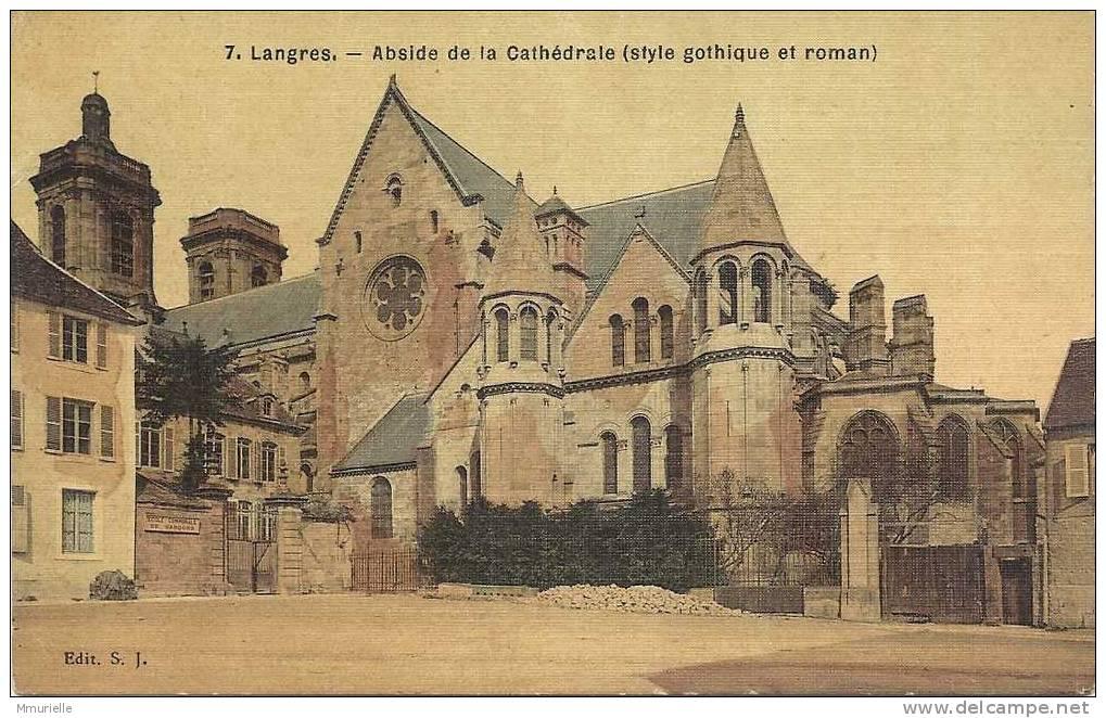 LANGRES Abside De La Cathédrale (style Gothique Et Roman)...(M) - Langres