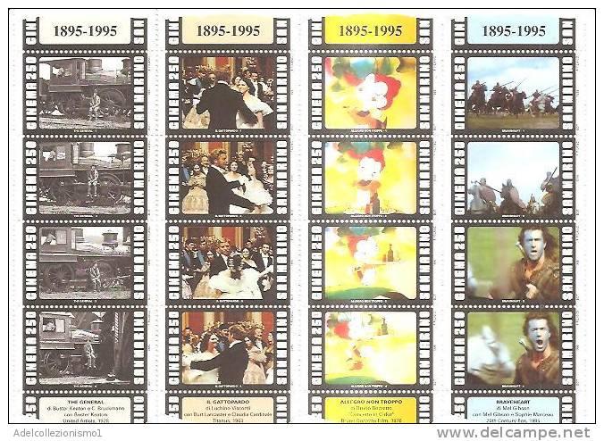 54402)foglietto Commemorativo Serie Cinema Con 16 Valori - Nuovo - Bf41 - 6. 1946-.. Repubblica