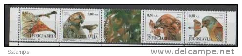 1994YU MH2647-50 STRIP JUGOSLAVIA JUGOSLAWIEN JUGOSLAVIJA FAUNA BIRDS NEVER HINGED - W.W.F.