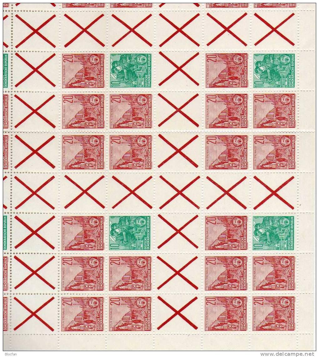 5-Jahresplan 1960 DDR 580,704,6-Block 2xHBl.9 Plus MHB 9 ** 393€ Stalinallee Werkbank Für Markenheft Sheetlet Of Germany - Zusammendrucke