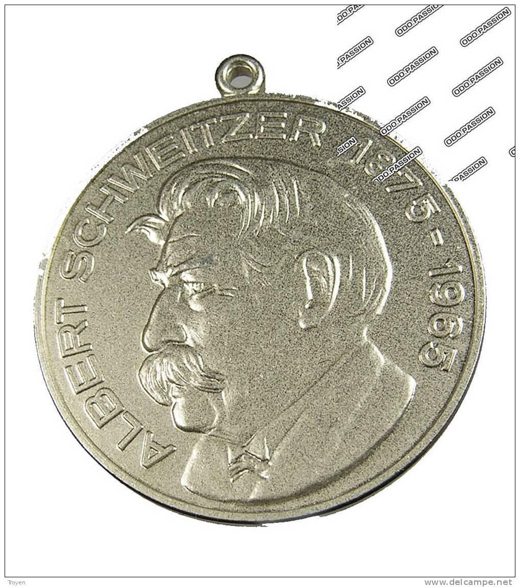 Allemagne - Albert Schweitzer -1952 -  Médaille Prix Nobel  - Lambarene - TTB - Ni - Royaux/De Noblesse