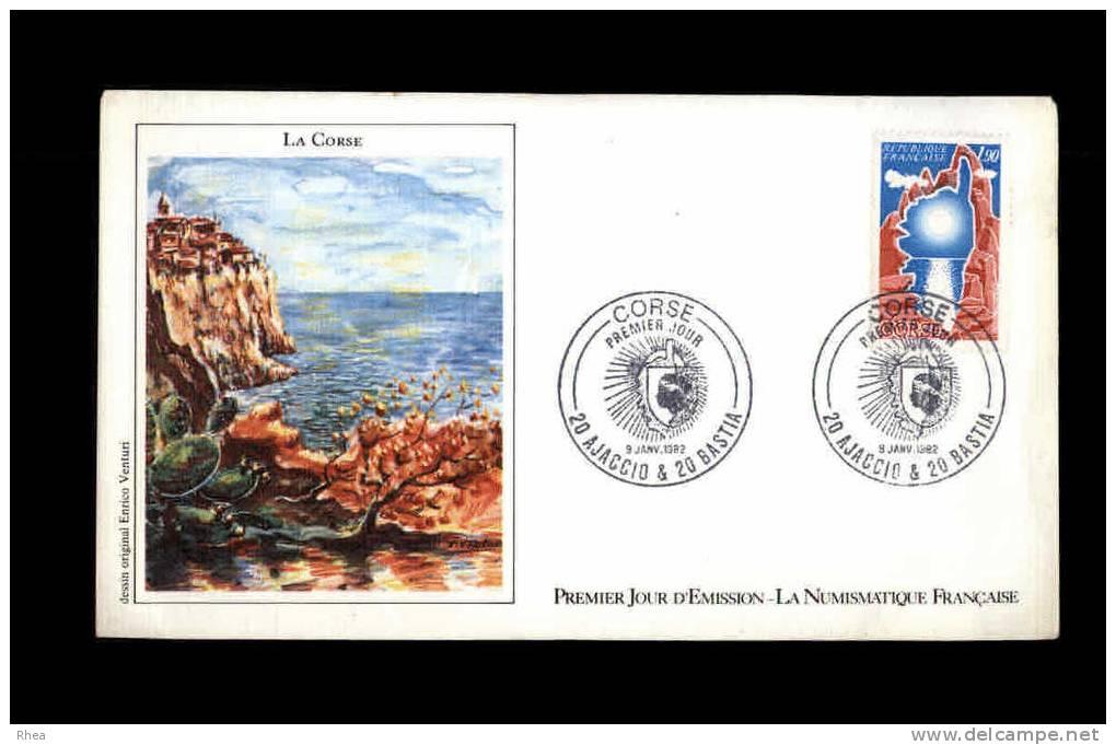 ENVELOPPE PREMIER JOUR - La Corse - 1882 - France