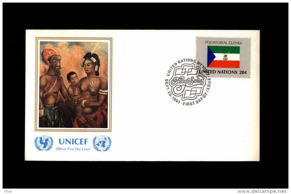 ENVELOPPE PREMIER JOUR - Unicef - GUINEE EQUATORIALE - 1981 - FDC - Guinée Equatoriale