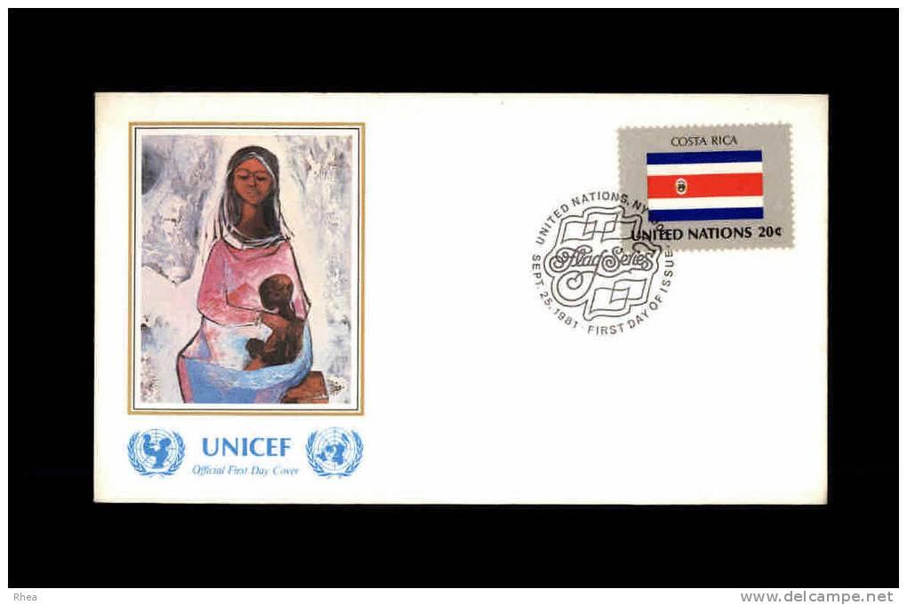 ENVELOPPE PREMIER JOUR - Unicef - COSTA-RICA - 1981 - FDC - Costa Rica