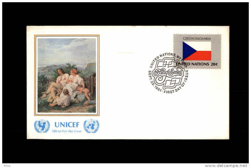 ENVELOPPE PREMIER JOUR - Unicef - TCHECOSLOVAQUIE - 1981 - FDC - FDC