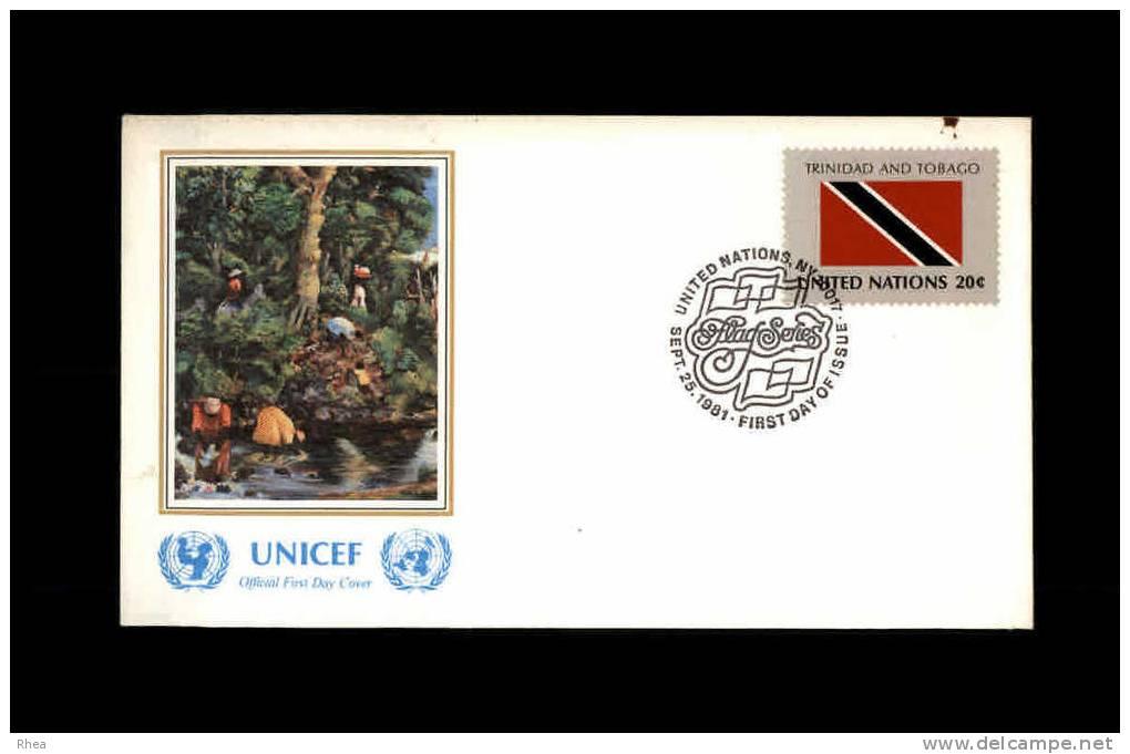 ENVELOPPE PREMIER JOUR - Unicef - TRINIDAD ET TOBAGO - 1981 - FDC - Trinité & Tobago (1962-...)