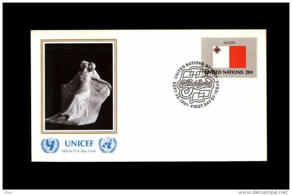 ENVELOPPE PREMIER JOUR - Unicef - MALTE - 1981 - FDC - Malte