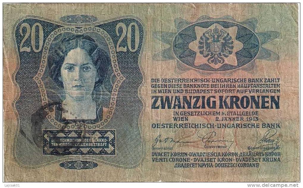 Austria Hungary 20 Kronen Korona 1913. - Autriche