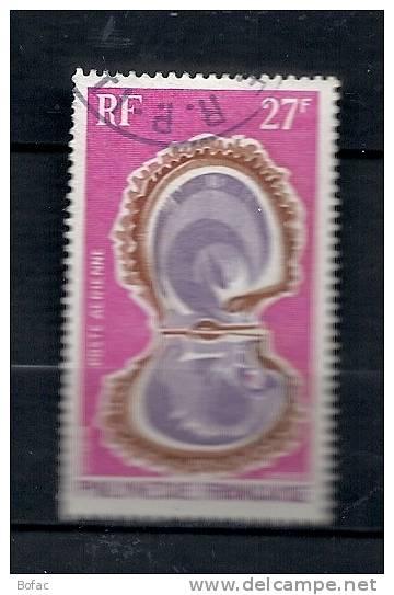PA 37  (OBL)  Y  &  T  (huitre Perlière  Poste Aérienne)       POLYNESIE  37/13 - Poste Aérienne