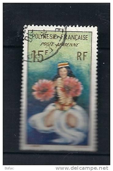 PA 7  (OBL)  Y  &  T  (danseuse Poste Aérienne)       POLYNESIE  37/13 - Poste Aérienne