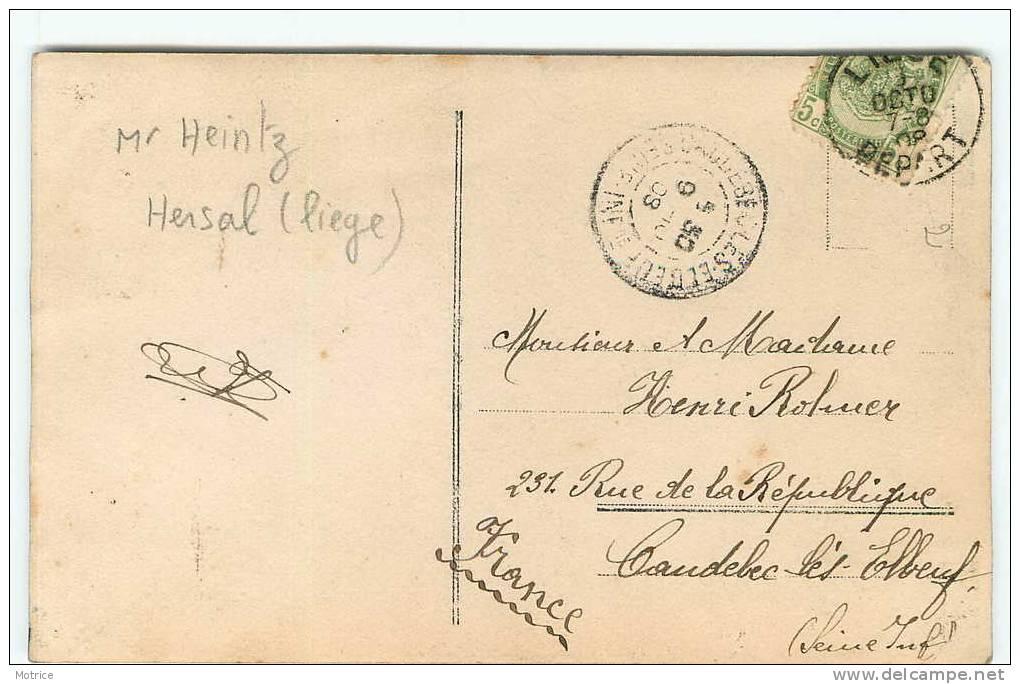HERSTAL (liège)    -    Mr Heinz(georges)et Madame;  Propriété A.Heintz Et Cie .(carte Photo). - Liege
