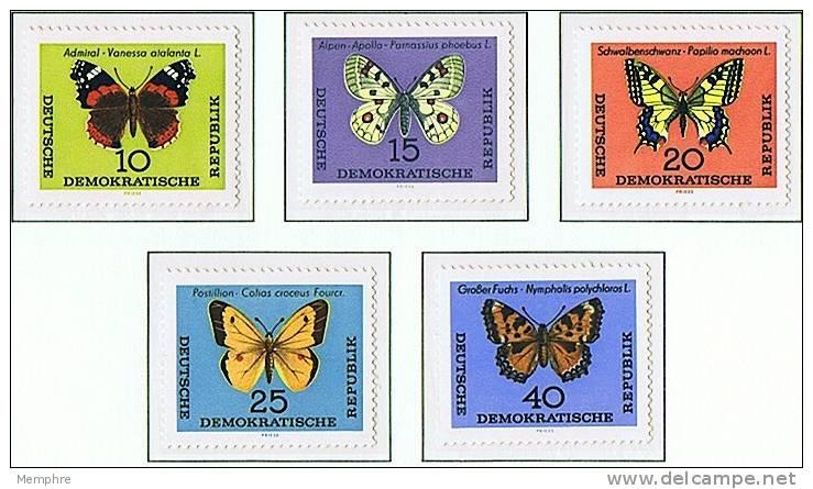 1964   Butterflies    Mi Nr  1004-8    ** MNH - DDR