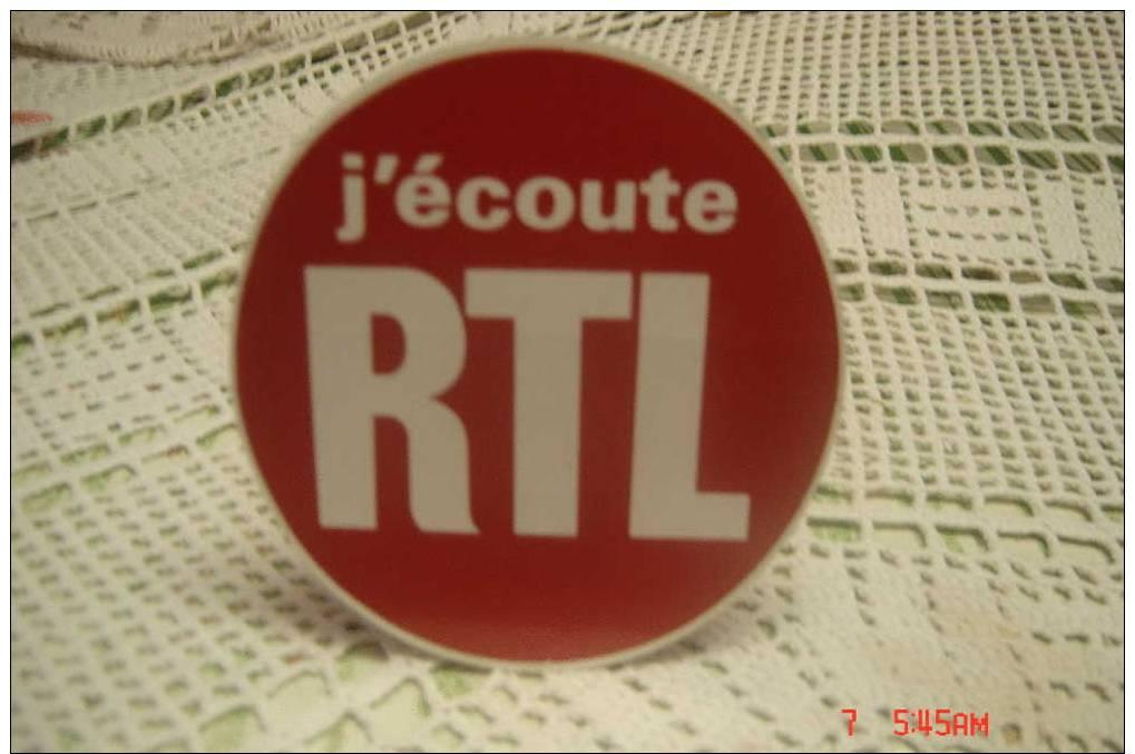 AUTOCOLLANT  J ECOUTE RTL - Autocollants