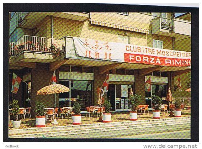 RB 707 - Postcard - Bar Ponterotto Club Tre Moschiettieri Forza Rimini Italy - Rimini