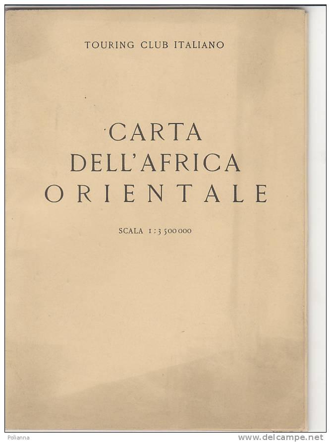 Cartina Africa In Italiano.Geographical Maps C0345 Cartina Carta Dell Africa Orientale Touring Club 1935 Eritrea Etiopia Abissinia Somalia